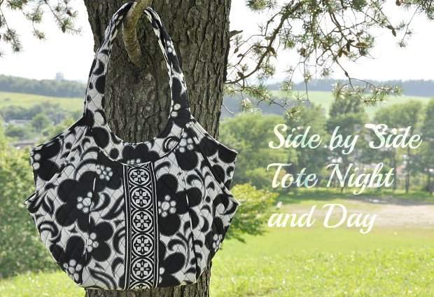 Side by Side Tote l1 Night and Day