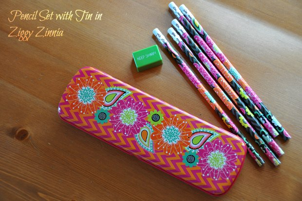 045Pencil Set with Tin in Ziggy Zinnia
