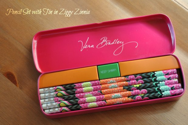 Pencil Set with Tin in Ziggy Zinnia007732
