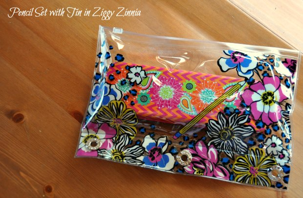 Pencil Set with Tin in Ziggy Zinniabinder3