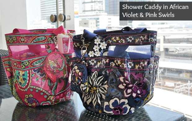 Shower Caddy in African Violetpinkand2