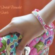 Beaded Stretch Bracelet in Pink Swirls11