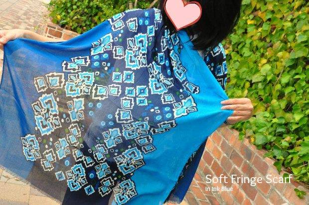 1Soft Fringe Scarf in Ink Blue1122