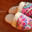 Fleece Slippers in Pink Swirls110843
