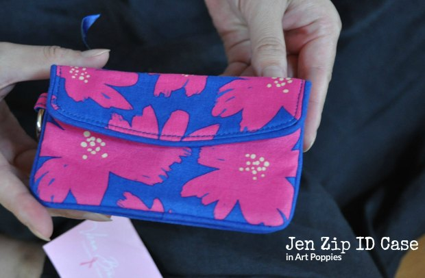 Jen Zip ID Case in Art Poppies 625